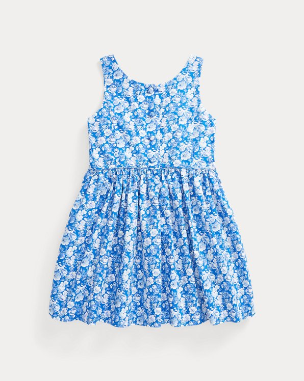 Floral Cotton Poplin Dress