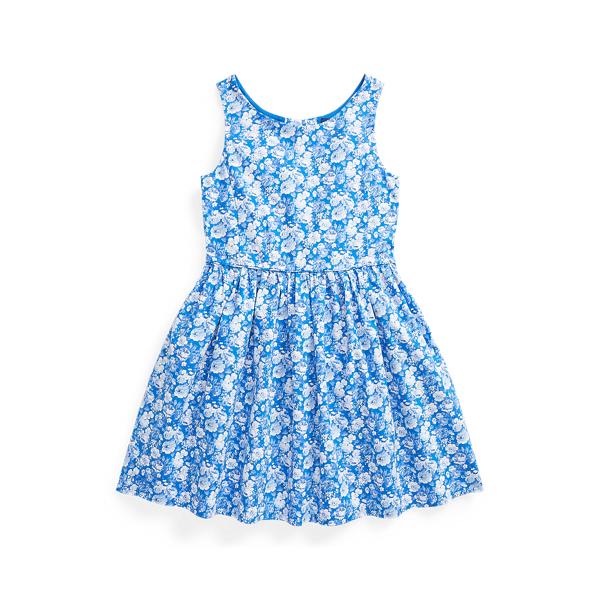 폴로 랄프로렌 여아용 원피스 Polo Ralph Lauren Floral Cotton Poplin Dress,Blue Multi