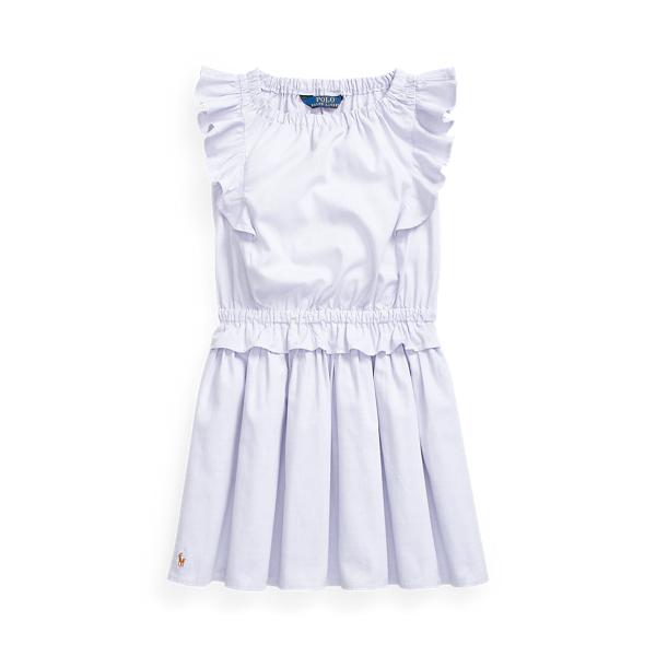 폴로 랄프로렌 여아용 원피스 Polo Ralph Lauren Ruffled Cotton Oxford Dress,Lilac