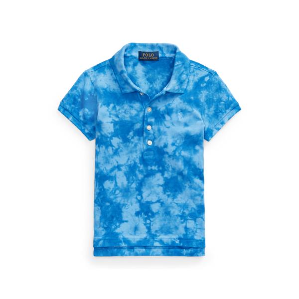폴로 랄프로렌 여아용 폴로셔츠 Polo Ralph Lauren Tie-Dye Mesh Polo Shirt,Boysenberry Multi
