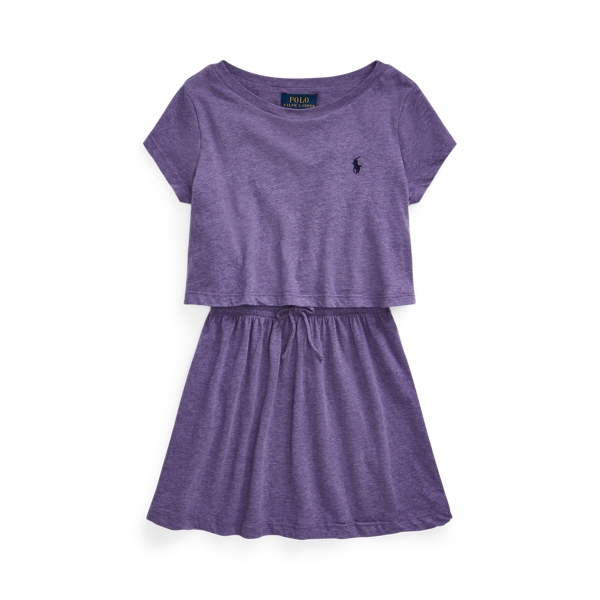 폴로 랄프로렌 여아용 원피스 Polo Ralph Lauren Cotton Jersey Tee Dress,Safari Purple Heather