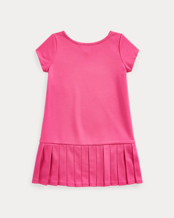 Pleated-Skirt Tee Dress