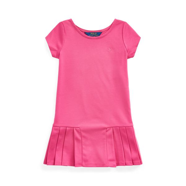 폴로 랄프로렌 여아용 원피스 Polo Ralph Lauren Pleated-Skirt Tee Dress,College Pink