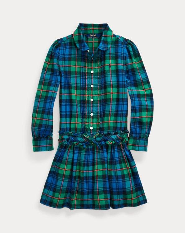 Plaid Cotton Twill Shirtdress