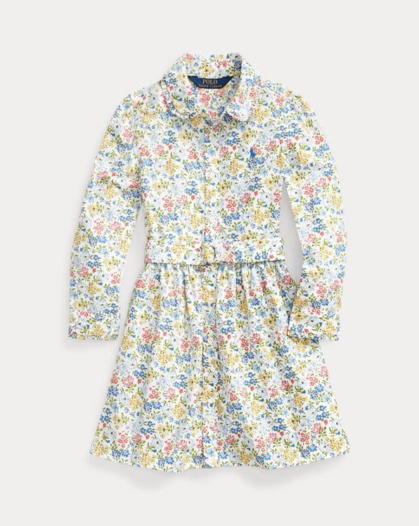 Floral Belted Shirtdress