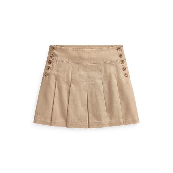 폴로 랄프로렌 여아용 스커트 Polo Ralph Lauren Pleated Cotton Chino Skirt,Classic Khaki