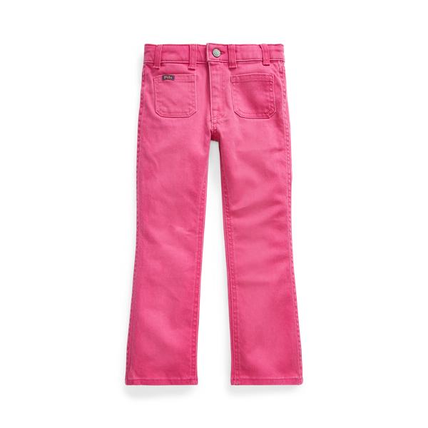 폴로 랄프로렌 여아용 데님진 Polo Ralph Lauren Jenn Flare Jean,College Pink