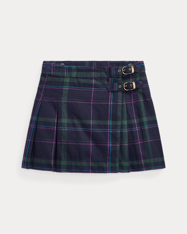 Plaid Twill Kilt Skirt