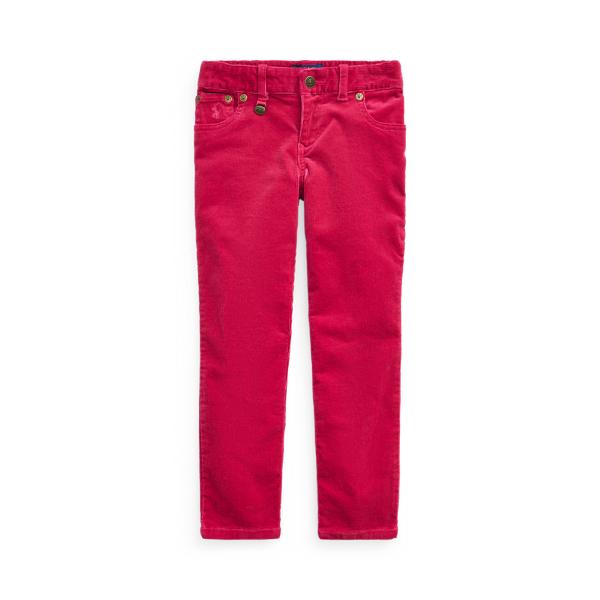 폴로 랄프로렌 여아용 바지 Polo Ralph Lauren Skinny Fit Stretch Corduroy Pant,Pink