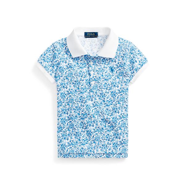 폴로 랄프로렌 여아용 폴로셔츠 Polo Ralph Lauren Floral Stretch Mesh Polo,White Blue Multi