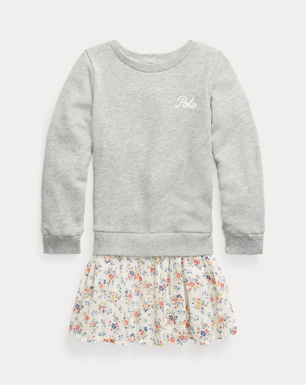 Robe-sweat à jupe fleurie