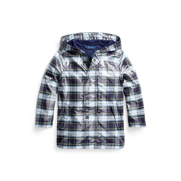 폴로 랄프로렌 여아용 후드 자켓 Polo Ralph Lauren Water-Resistant Hooded Jacket,Blue Multi