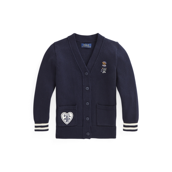 폴로 랄프로렌 여아용 가디건 Polo Ralph Lauren Polo Bear Cotton Cardigan,RL Navy