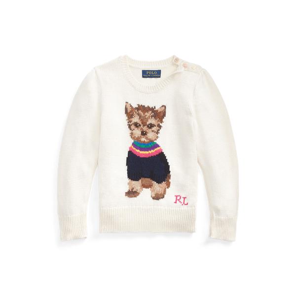 폴로 랄프로렌 Polo Ralph Lauren Dog Cotton-Blend Sweater,Clubhouse Cream