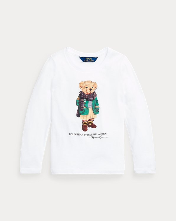 Scarf Bear Long-Sleeve Cotton Tee