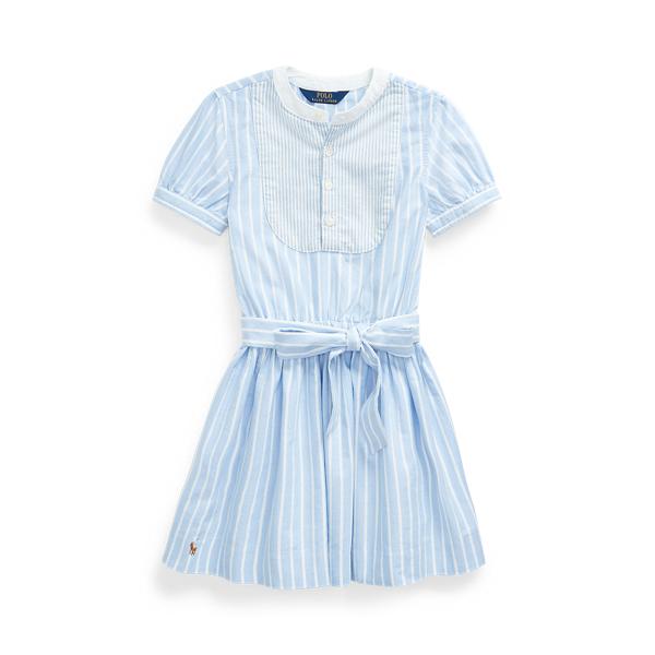 폴로 랄프로렌 여아용 원피스 Polo Ralph Lauren Mixed-Stripe Cotton Dress,Blue