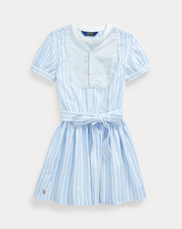 Mixed-Stripe Cotton Dress