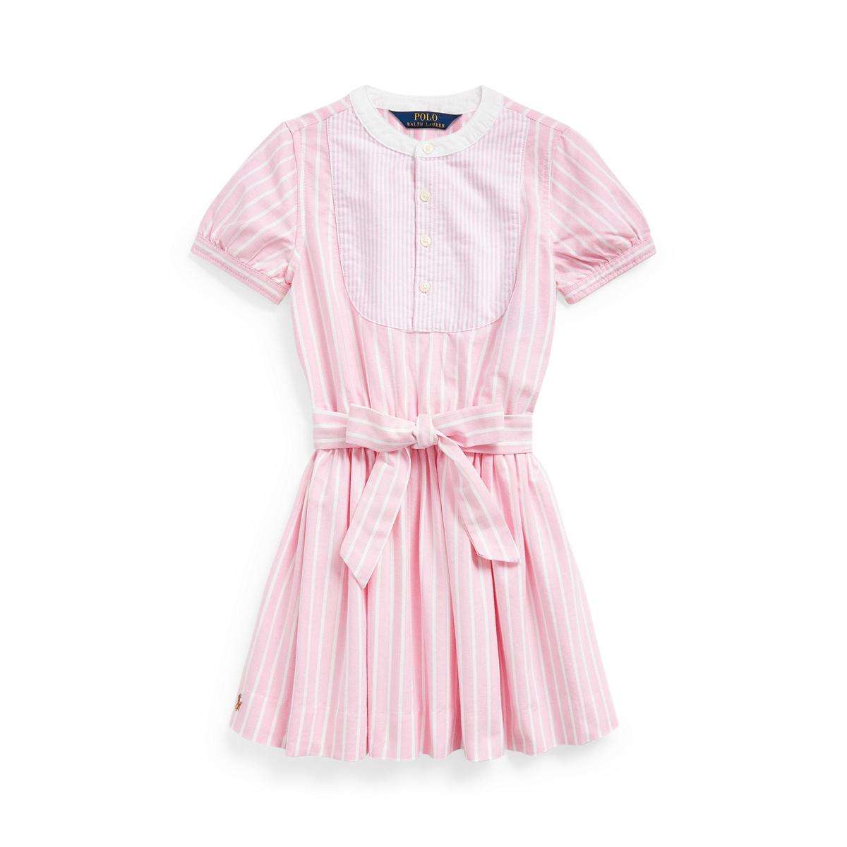Mixed-Stripe Cotton Dress