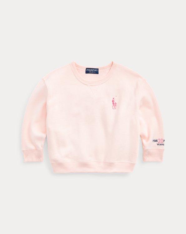Fleece-Sweatshirt mit Pink Pony