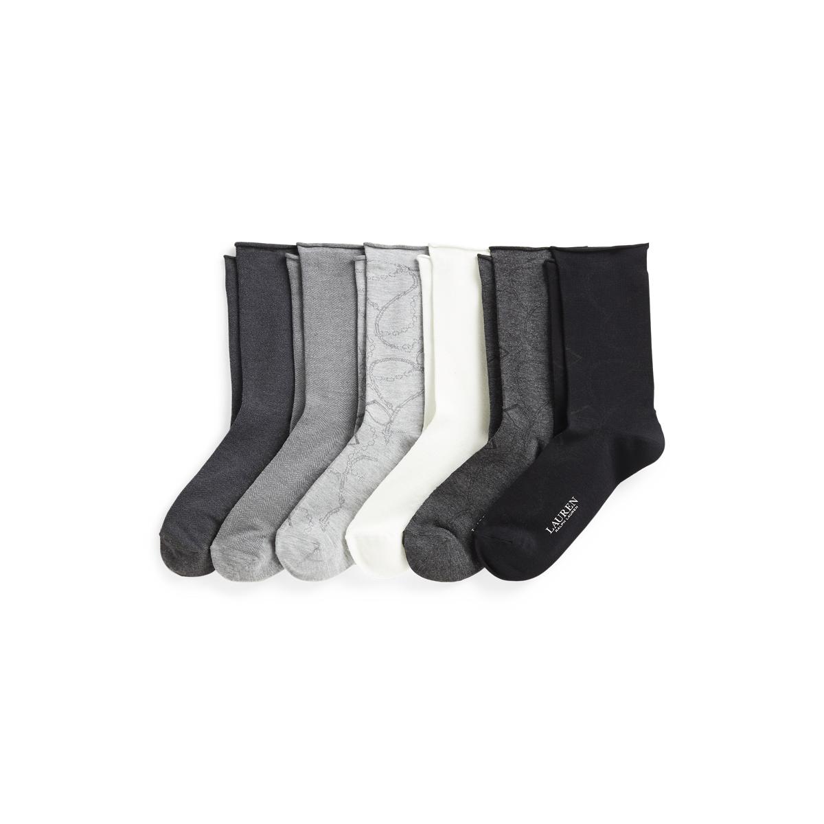 Equestrian Roll-Top Sock 6-Pack