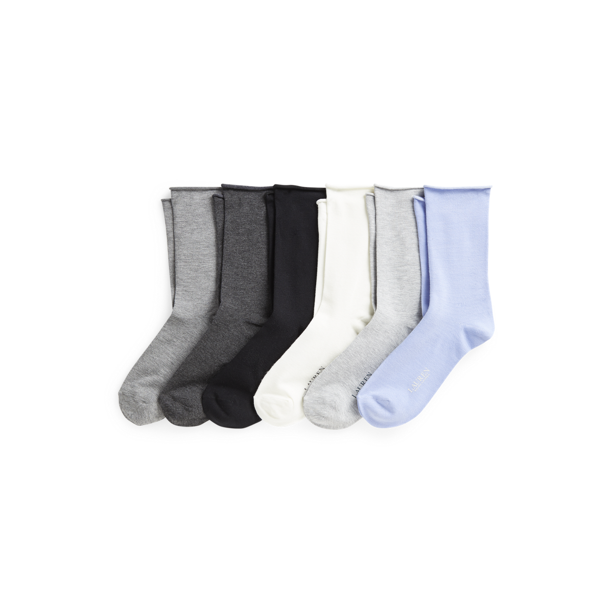 Roll-Top Trouser Sock 6-Pack