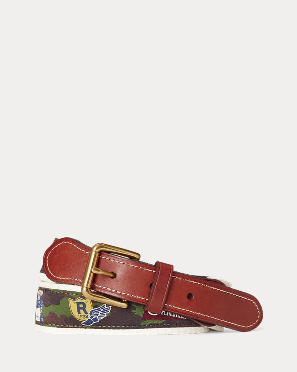 Varsity-Inspired Leather-Tip Belt