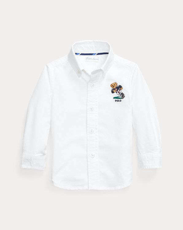 Football Bear Cotton Shirt