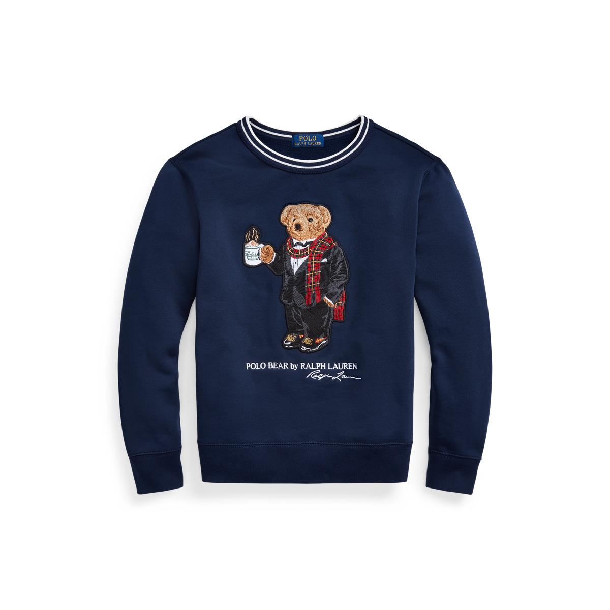 Coffee Bear Fleece Sweatshirt