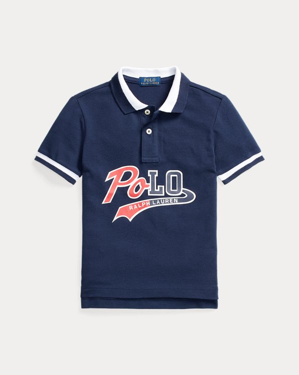 Logo Cotton Mesh Polo Shirt