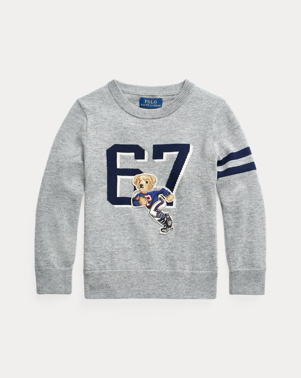 Pull col rond Football Bear