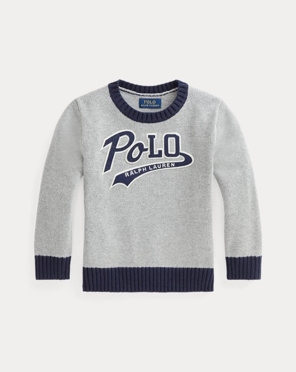 Logo-Patch Cotton Jumper