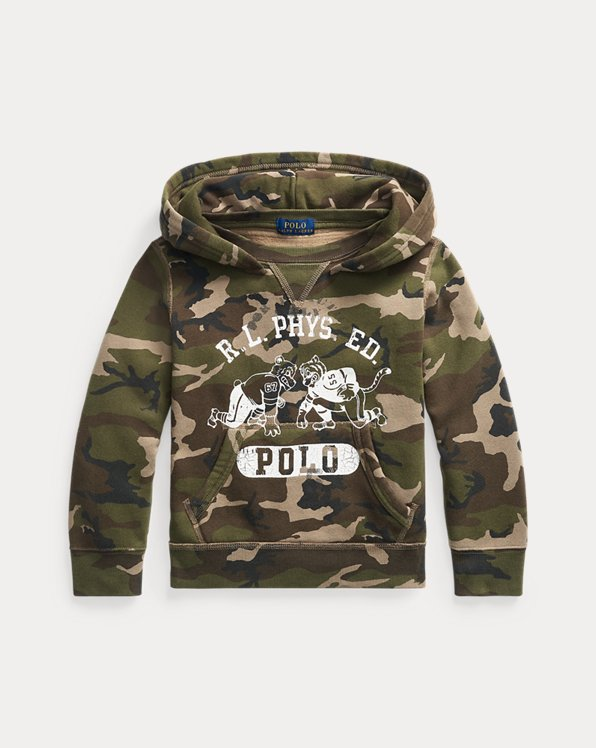 Camo Fleece Graphic Hoodie
