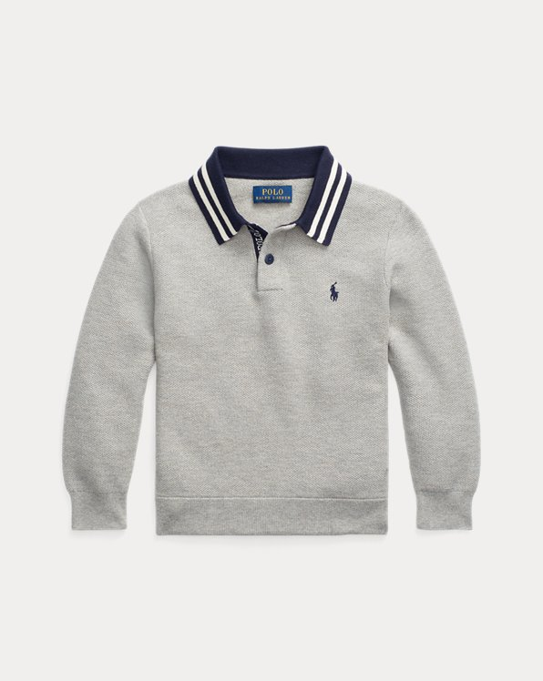 Cotton Polo-Collar Jumper