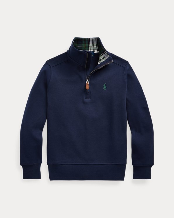 Cotton Interlock Quarter-Zip Pullover