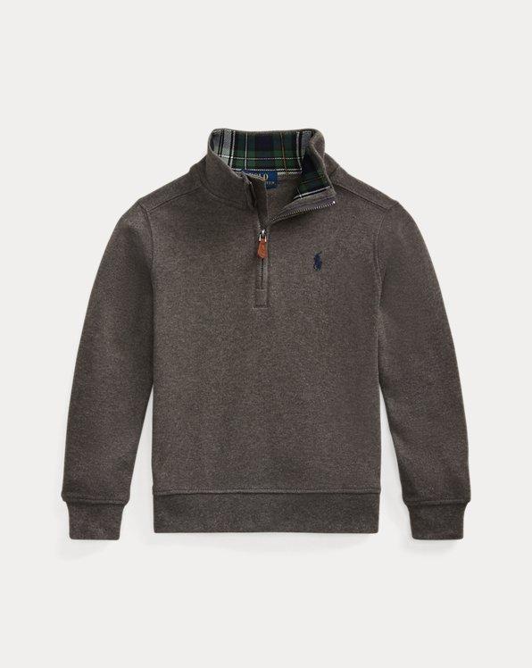 폴로 랄프로렌 남아용 풀오버 Polo Ralph Lauren Cotton Interlock Quarter-Zip Pullover,Grey Heather