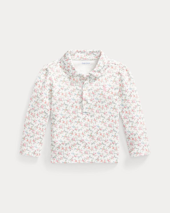 Floral Interlock Polo Shirt