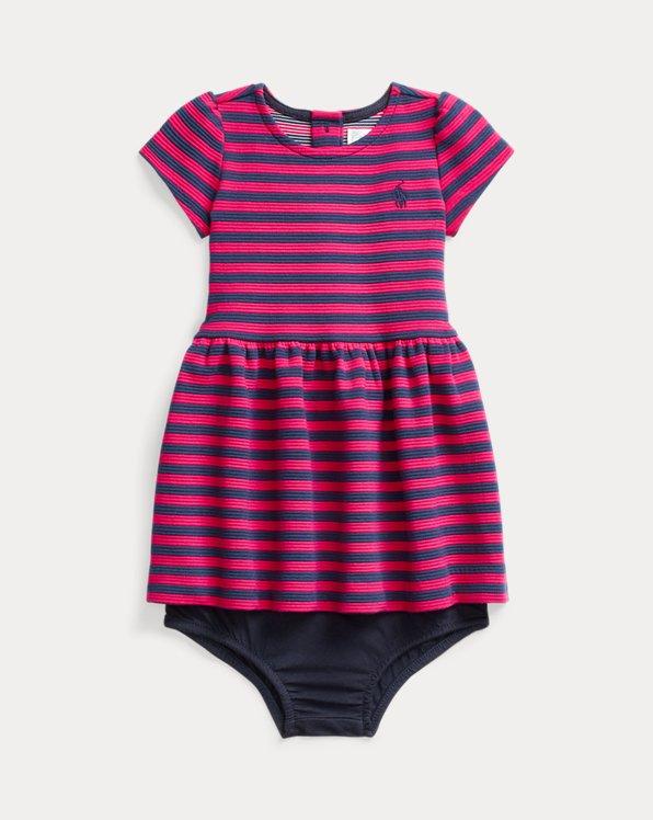 Striped Ponte Dress & Bloomer