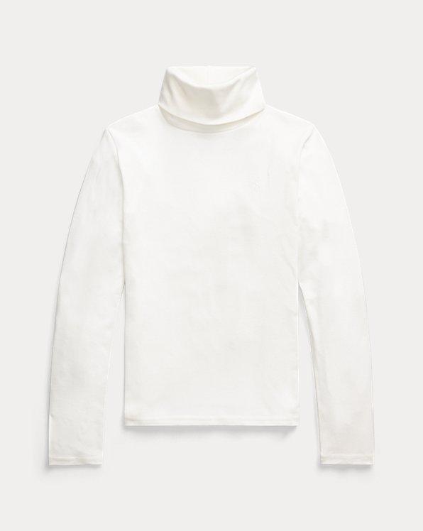 Cotton-Modal Roll Neck