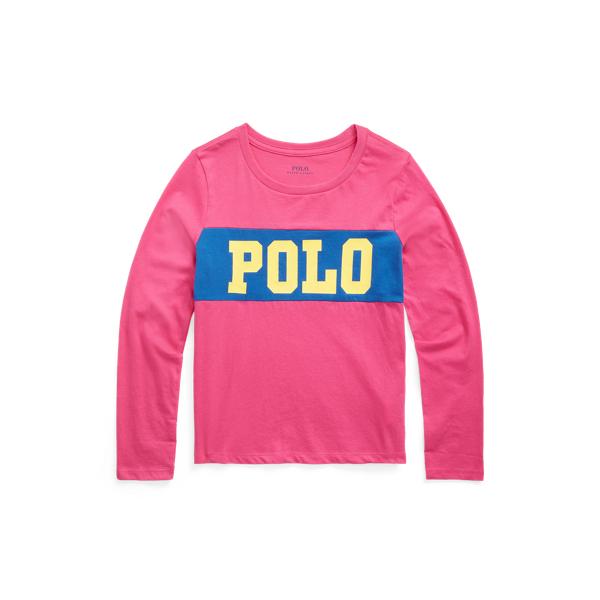 폴로 랄프로렌 Polo Ralph Lauren Logo Cotton Jersey Tee,College Pink