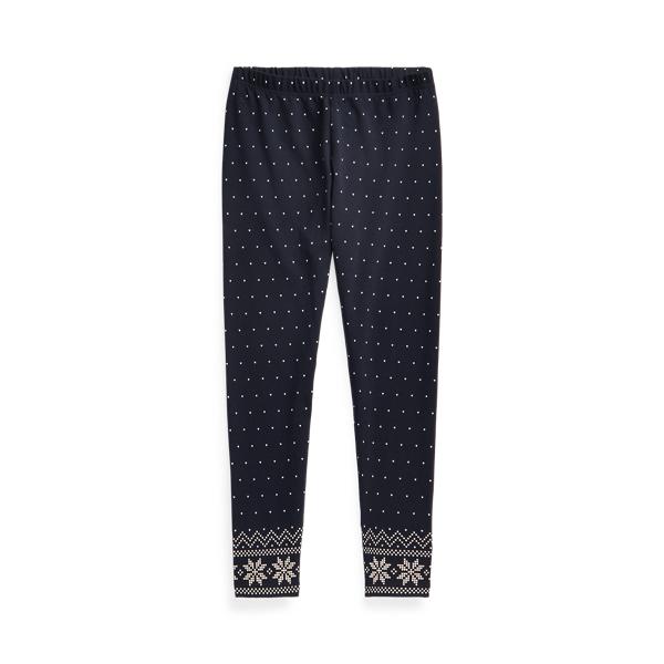 폴로 랄프로렌 걸즈 레깅스 Polo Ralph Lauren Polka-Dot Stretch Jersey Legging,Navy Multi