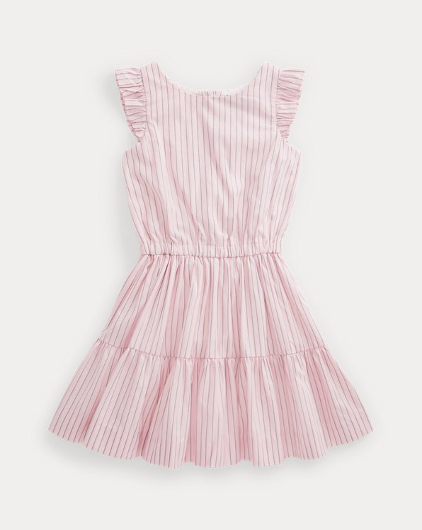 Striped Tiered Cotton Dress