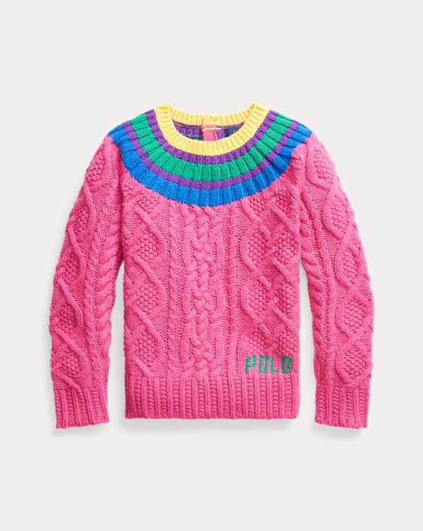 Aran-Knit Fun Jumper