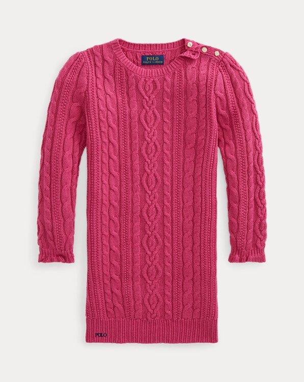 Vestido de punto Aran de algodón
