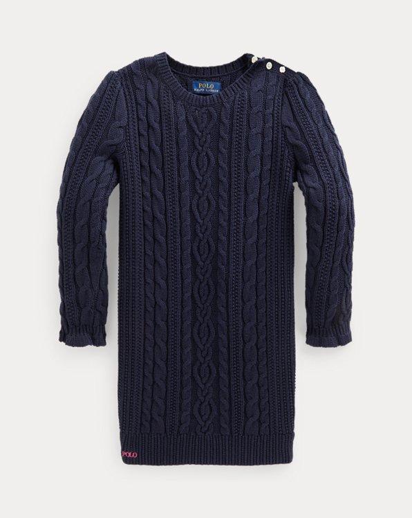 Aran-Knit Cotton Jumper Dress