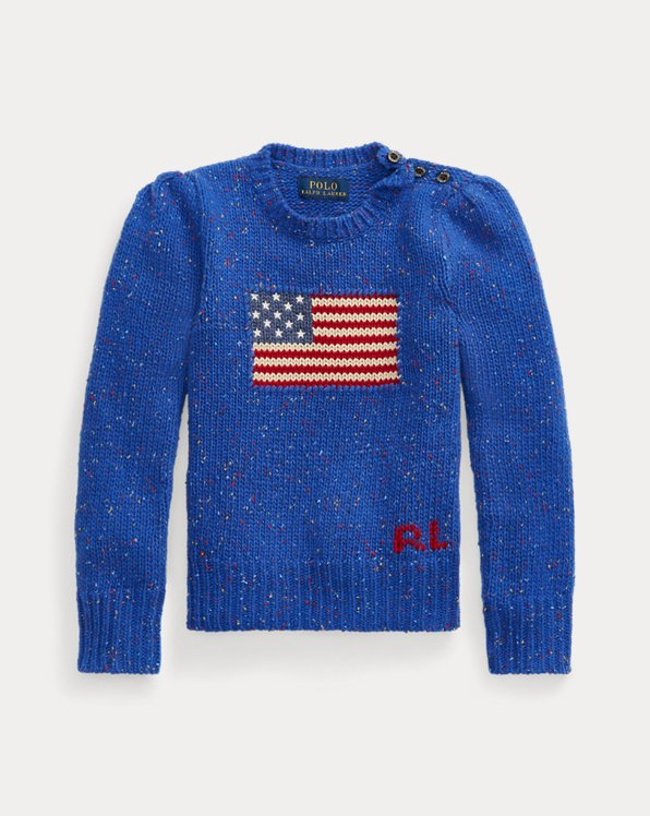 Jersey de bandera de mezcla de lana