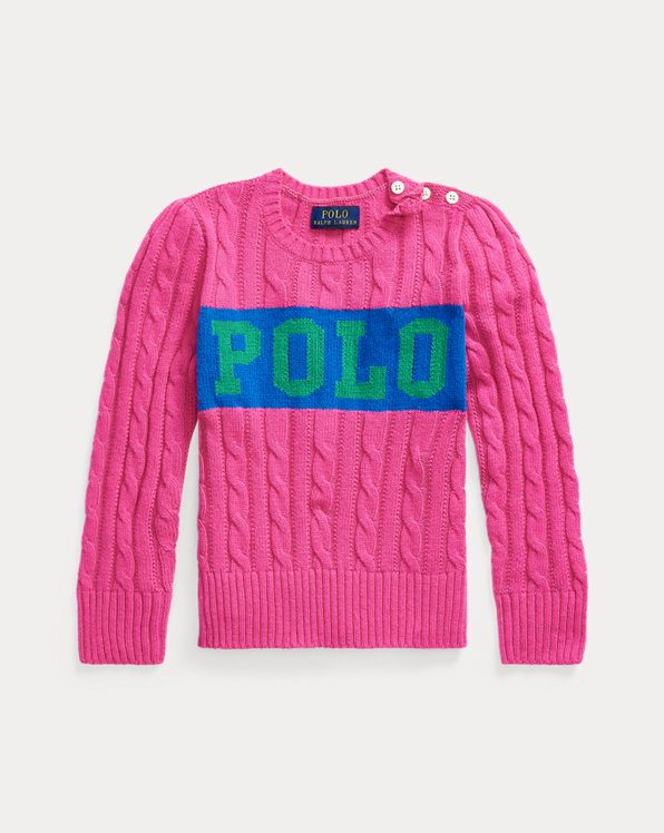 Logo Cable-Knit Jumper