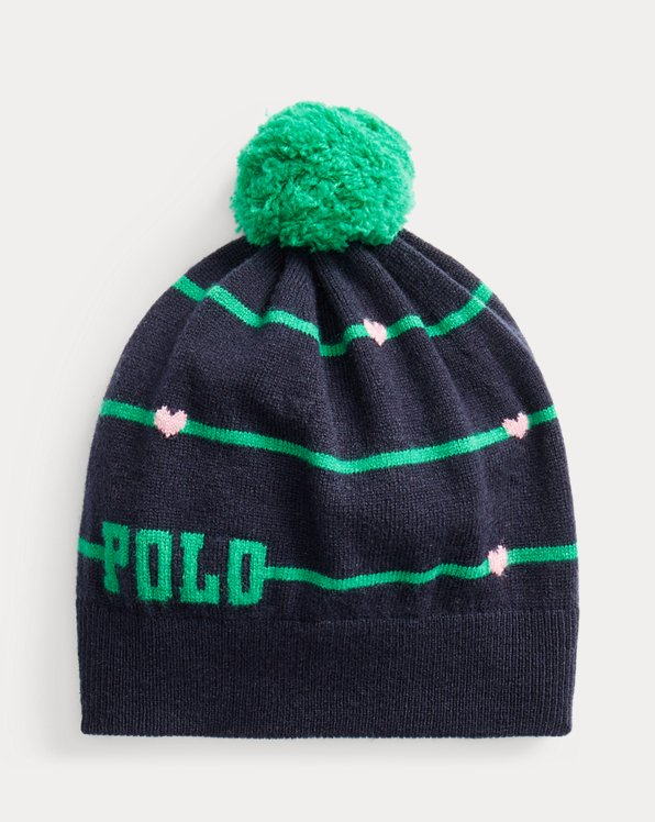 Striped Logo Wool Hat