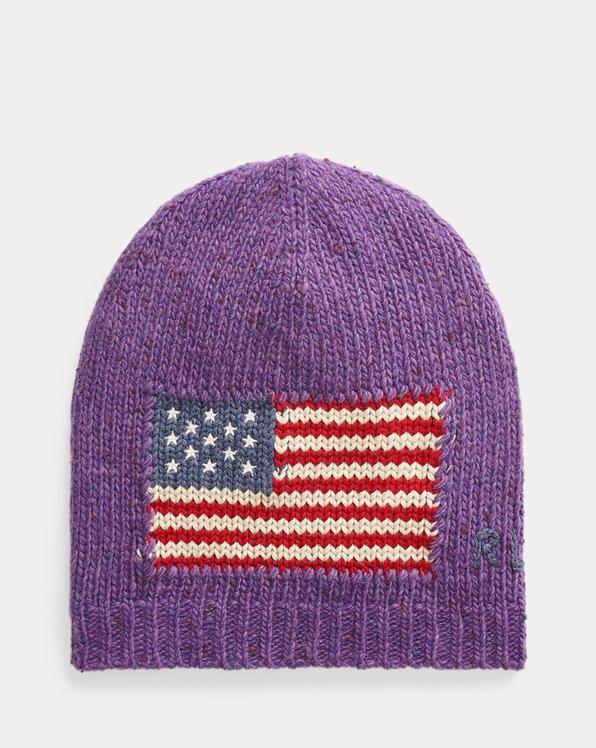 Mütze aus Wollmischung mit Flagge