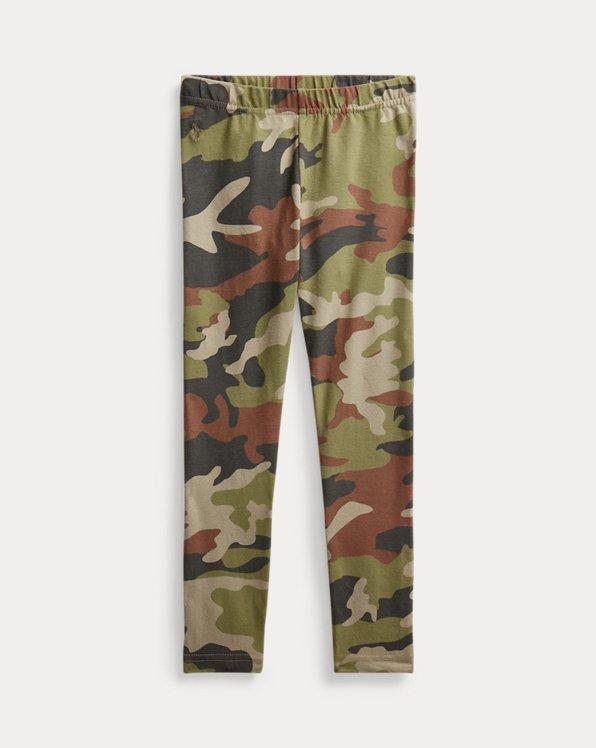 Camo Stretch Cotton Jersey Legging