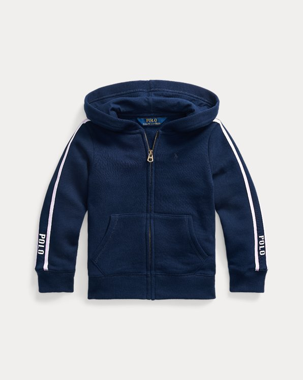Striped Fleece Full-Zip Hoodie